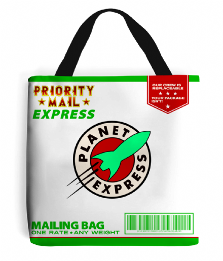 Planet Express Priority Mail Express Tote Post Bag inspired by Futurama